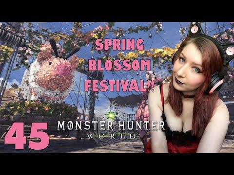 SPRING BLOSSOM FESTIVAL! - Monster Hunter: World Gameplay Walkthrough Part 45