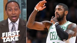 Stephen A. 'loves' Kyrie Irving's reaction to Jamal Murray going for 50 | First Take