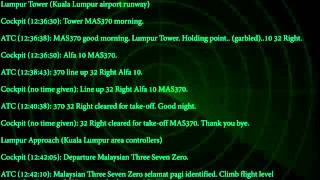 FULL AUDIO - MH370 Cockpit-ATC (Official) Conversation Lost Malaysian Plane