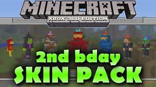 Minecraft WiiU 1st Birthday Skin Pack - PakVim net HD Vdieos