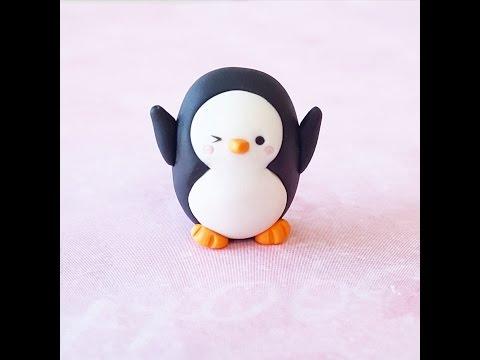 Polymer Clay Tutorial   Simple Kawaii Penguin