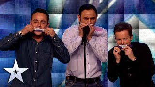 Go BIG or go COMB for Narinder Dhani in this HILARIOUS Audition! | Britain's Got Talent