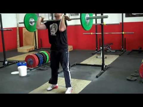 Power Clean and Front Squat Combo