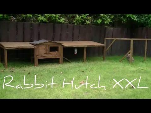 Luxury outside rabbit hutch