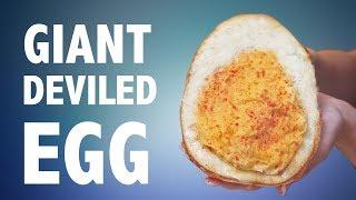 DIY GIANT DEVILED EGG 🥚  (DO NOT ATTEMPT) - TEST KITCHEN