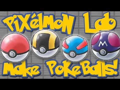 Pixelmon Lab: How To Make Pokeballs! (Minecraft Pokemon Mod)
