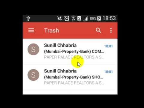How to empty the trash in Gmail Android App