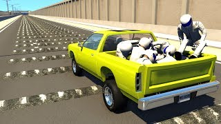 100+ Consecutive Speed Bumps High Speed Testing #7 - BeamNG DRIVE