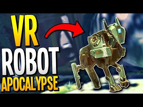 SURVIVING THE ROBOT APOCALYPSE IN VIRTUAL REALITY - Apex Construct Gameplay - VR HTC Vive