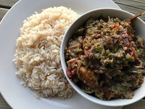 Liberian Fried Okra Sauce    IBeeTheChef