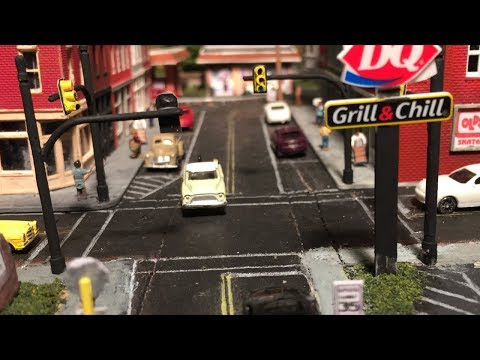 Model RR N Scale Layout #30 - Scratch built new Traffic Lights