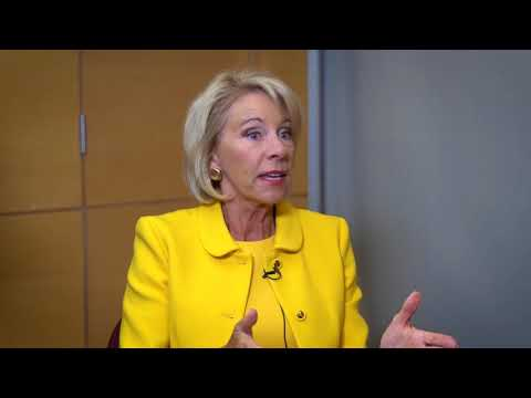 The Daily Signal Interviews Education Secretary Betsy DeVos