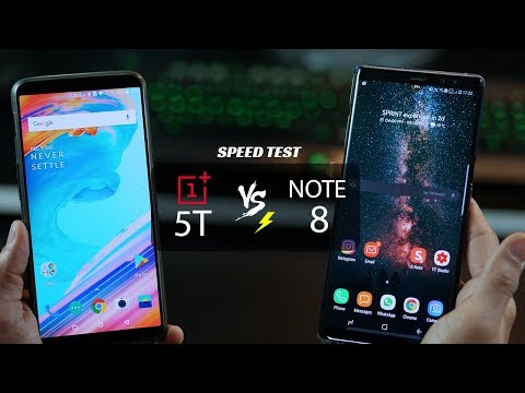 The Speed Test - Galaxy Note 8 vs OnePlus 5T (4K)
