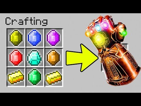 CRAFTING THE INFINITY GAUNTLET IN MINECRAFT?!