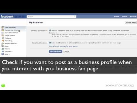 How to create a fanpage on facebook 2011