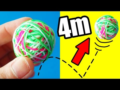 How To Make Bouncy Ball Out Of Loom Bands! Bounce Up To 4 Meters High! by Bum Bum Surprise Toys