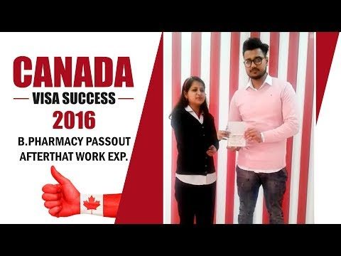 Canada Visa B.Pharmacy 2016 Passout