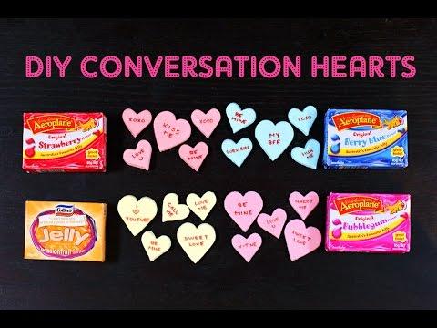 Valentines CONVERSATION HEARTS Recipe Using JELLO! By Cupcake Addiction