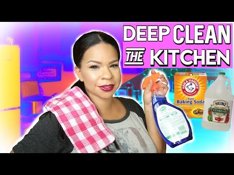 THE BEST DEEP CLEANING KITCHEN TIPS | CHEAP WAYS TO CLEAN WALLS, STOVE, CROCK POT & MORE