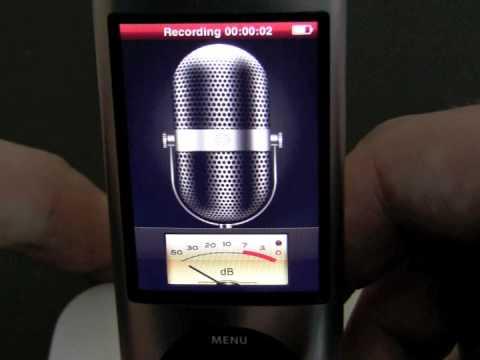 iPod nano 5G: First Bootup, Pedometer, Radio + Video Recording