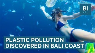 Divers find 3 tonnes of plastic floating off the Bali coast