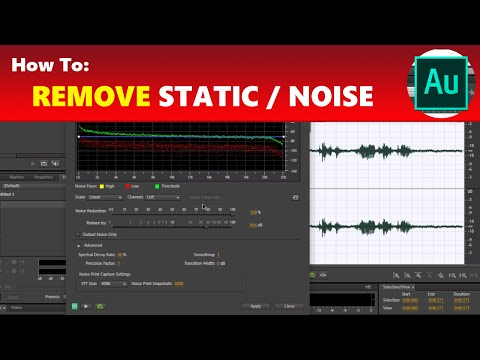 How To: Remove Static / Background Noise in Adobe Audition | Using Adobe Audition Tutorial