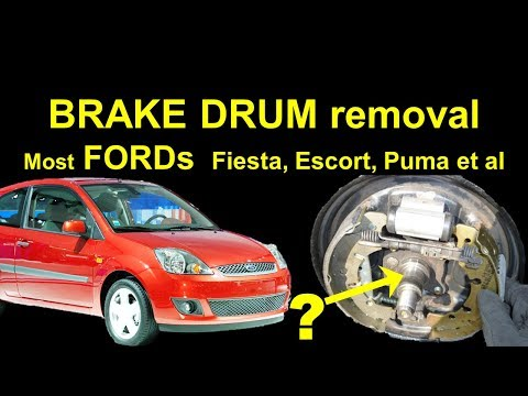 FORD Rear Drum Brake Removal - Fiesta Rear Brakes