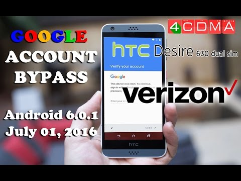 New!!! HTC Desire 530 Verizon FRP Google Account Bypass! Android 6.0.1! Last Update!