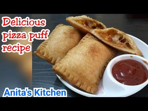 Pizza puff recipe   How to make pizza puff   kids recipe  party time recipe