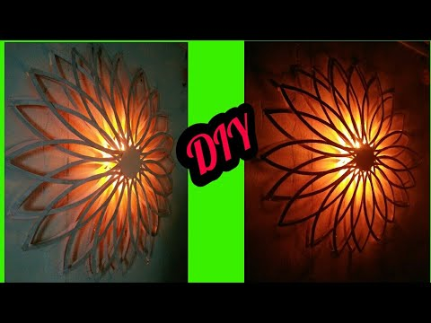 Diy wall decor with lights/diy home decor/diy paper lamp/paper wall hanging/wall art/art my passion