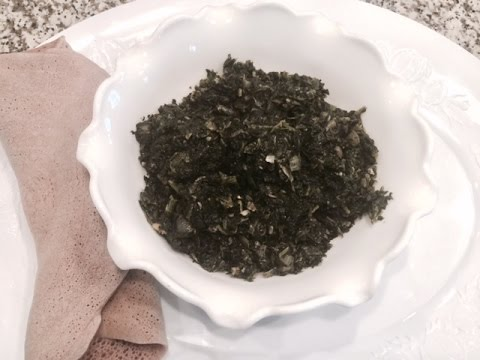 How to make   Vegetarian side dish Roasted Spinach Vegan