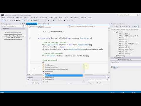 C#: How to create and write text in MS Word document programmatically