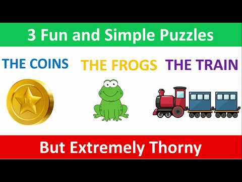 3 Fun and Simple Puzzles But Extremely Thorny - Can you solve them all?