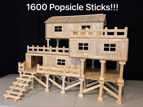How to Make Popsicle Stick House for Chinchilla