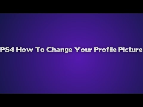 [PS4] How to change your profile picture