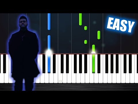 The Weeknd - Call Out My Name - EASY Piano Tutorial by PlutaX