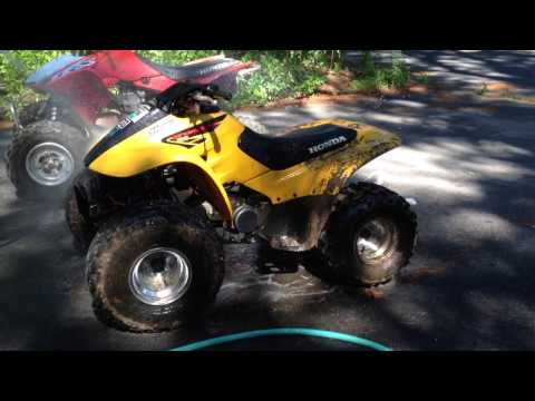 How To Clean Wash Dirt Mud Off Of ATV Dirt Bike Easy Way