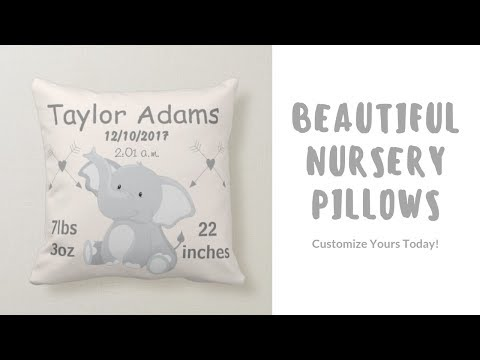 Nursery Birth Announcement Pillows