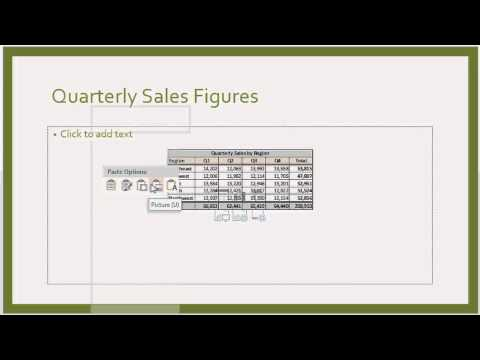 How to Import Excel Data Into a PowerPoint : Microsoft Office Tips