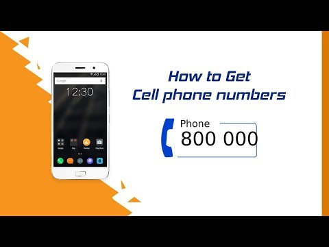 How to Get Cell phone numbers