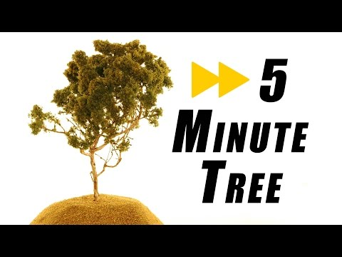 How long does it take to make a realistic tree – Model Railroad