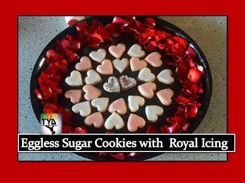 Eggless Sugar Cookies recipe in Hindi | Eggless Royal Icing recipe in Hindi