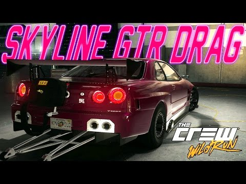 The Crew Wild Run Drag Build : 3000HP Nissan Skyline GT-R R34 Drag Build