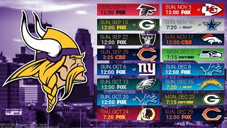 Minnesota Vikings 2019 NFL Schedule Predictions/Outcomes