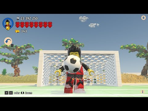 LEGO Worlds -  The first biggest football field / soccer field in my LEGO City
