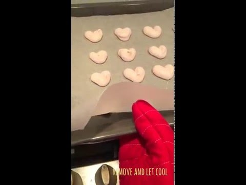 How to make Pink Heart Meringues