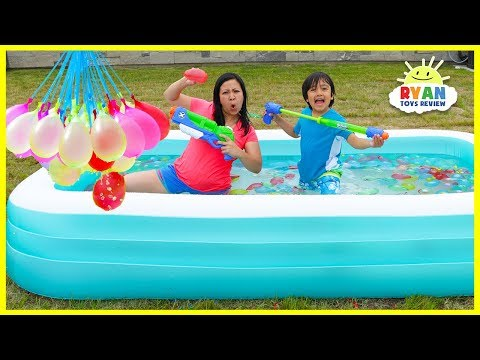 Xxx Mp4 Bunch O Balloons Water Fight Ryan Vs Mommy In Kiddie Pool 3gp Sex