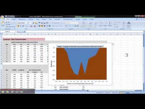 Microsoft Excel: Cross Sectional Area