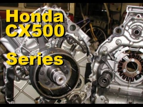 CX500 V twin 4 Stroke Series - Part 4 Removing the valves