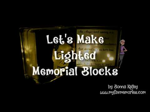 How to make a Lighted Memorial Glass Block (2017)